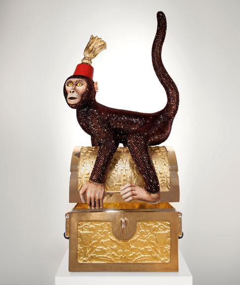 Monkey Business door Studio Job in het Museum of Art and Design