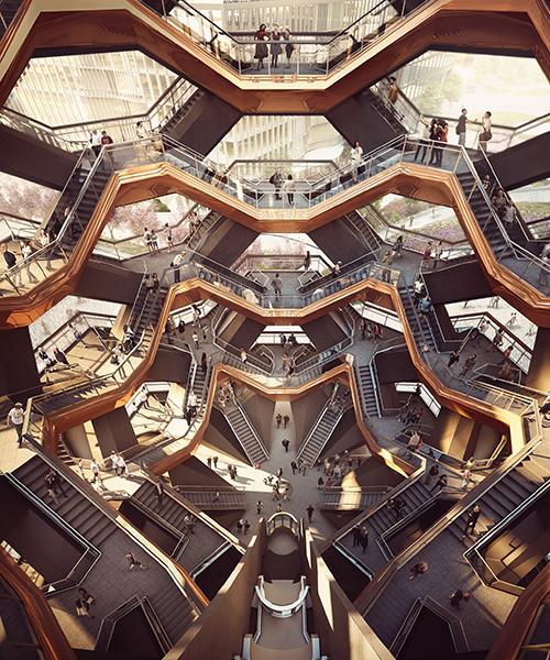 Een binnenzicht van het ontwerp doet denken aan tekeningen van M.C Escher