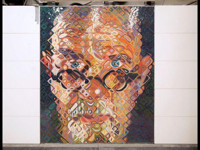 Close: Subway Self Portrait